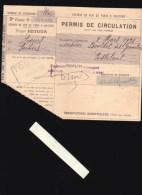 Chemin De Fer De Paris A Orléans - Permis De Circulation - Mars 1921 - Titres De Transport