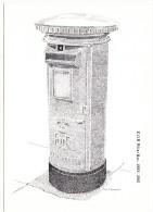Victorian Postbox: E II R. Pillar Box,1953-80 (Victorian Postbox Postcard - First Day Of Sale-18 November1981,14P Stamp) - Storia Postale