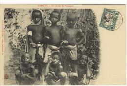 Carte Postale Ancienne Djibouti - Les Guides Des Passagers - Enfants, Métiers, Mendiants - Djibouti