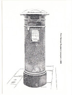 Victorian Postbox: 1st National Standard, 1863 (Victorian Postbox Postcard - First Day Of Sale-7 October1981,14P Stamp) - Marcophilie