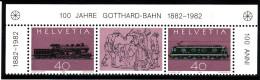 Suisse 1982 - N° 1148a (1148 Et 1149) -  Paire Avec Vignette - Neuve** 1er Choix - Ungebraucht
