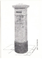 Victorian Postbox: V.R. Pillar Box C. 1900 (Victorian Postbox Postcard - First Day Of Sale- 7 October 1981,14P Stamp) - Marcofilie