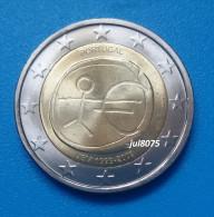 2 Euro Commemorative Portugal 2009 EMU 10ans De L´euro 1999-2009 PIECE NEUVE UNC - Portugal