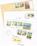 ITALIA (ITALY)  - STORIA  POSTALE - 1991 LOTTO DI 4 LETTERE X INTERNO  - RIF. 1888 - 1991-00: Poststempel