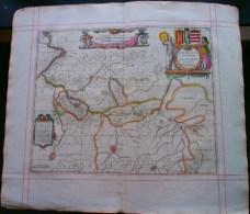 Mechlinia Dominum Et Aerschot Ducatus. Janssonius 17de Eeuw. Orig.,ingekleurde Kopergravure. - Mapas Geográficas