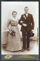 AUSTRIA-HUNGARY, Laakirchen-Stayermuhl, Franz Berger, Antique Photo, Marriage Portrait, Cabinet Card, Ca. 1900 - Identifizierten Personen