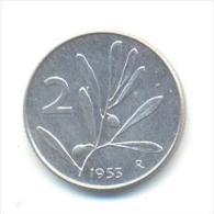 ITALIA REPUBBLICA  2 LIRE ANNO 1953 - 2 Liras