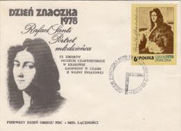 RAPHAEL SANTI, PAINTER, COVER FDC, 1978, POLAND - Art