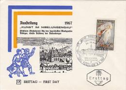 ART IN NIBELUNGENGAU, PAINTINGS, COVER FDC, 1967, AUSTRIA - Altri