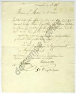 Lettre 29 Oct. 1815 Des Commissaires Chargés De L´approvisionnement à Ornans Au Maire De Ste-Anne (Doubs). Réquisition. - Documents