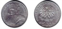 POLAND, Peoples Republic - 500 Zlotych 1989 MW WLADYSLAW II - Y#194BU - Polonia