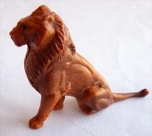 Figurine CLAIRET  - ANIMAUX ANIMAL - LION ASSIS 028 1 ZOO Pas Starlux Elastolin Ougen Jim Cyrnos - Starlux