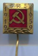 COMMUNIST PARTY  YUGOSLAVIA, communism, old pin, enamel badge