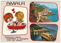 """Salerno, Amalfi -""""Volendoci Bene Riusciremo...."""" Vedutine. - Salerno"""