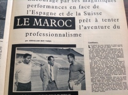 1962 FOOTBALL MAROCAIN - LA COLOMBIE - LE R.C. STRASBOURG -  FERENC PUSKAS - MIROIR DU FOOTBALL - Sport