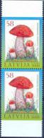 LV 2008-740 FLORA, LATVIA, 2 X 1v, MNH - Pilze