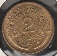 FRANCE 2 FRANCS 1936 MORLON  SUP+