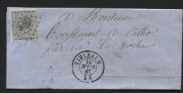 N�17 obl. LP 375 s/ lettre de VIELSALM vers Ortho le 16/3/1867