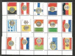 VATICAN. L'Euro Monnaie Unique Dans 15 Pays. Pièces Monnaies Des 15 Pays. Yv.1345/59 Neufs **. Côte 35 € - Coins