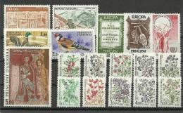 ANDORRA-SELLOS DEL CORREO FRANCES AÑO 1985 COMPLETO SIN FIJASELLOS - Años Completos