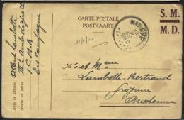 CAMPAGNE DES 18 JOURS - CP d'un militaire obl. NINOVE le 13/5/40 vers Froyenne.