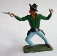 FIGURINE STARLUX COWBOY 2 Pistolets Debout 5123 1964 - Starlux