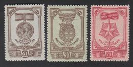 USSR Russia Russie 1945  MNH** Mi 968-970 A - Nuovi