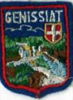 Ecusson Tissu, Feutrine Brodee, GENISSIAT, Format 5x4 Cm - Escudos En Tela
