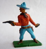 FIGURINE STARLUX COWBOY 2 REVOLVERS INCOMPLET -  SERIE ORDINAIRE  1957 Réf 130 - Starlux