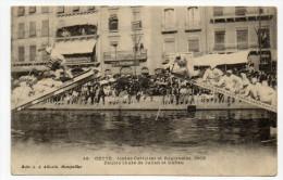 SETE / CETTE (34) - JOUTES CETTOISES ET REGIONALES 1909 - DOUBLE CHUTE DE JULIAN ET DUFFAU - Sete (Cette)