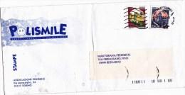 SP-536 BUSTA VIAGGIATA 1997 ASSOCIAZIONE POLISMILE TORINO PUBBLICITARIA - 6. 1946-.. Repubblica