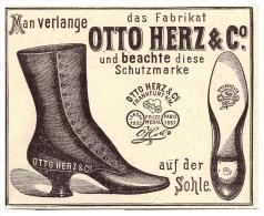 Original Werbung - 1891 - Otto Herz & Co , Schuhe , Frankfurt A.M. , Schuhhaus !!! - Schuhe