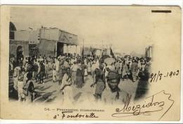 Carte Postale Ancienne Djibouti - Procession Musulmane - Religions, Islam - Djibouti