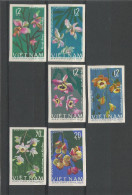 VIET-NAM - TIMBRES NEUFS* NON DENTELES N° 482 à 487 - 1966 - FLEURS - SERIE COMPLETE - VOIR SCAN - Vietnam