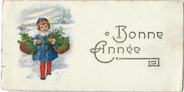 Petite Carte De Voeux/ Circulée/Jeune Fille Dans La Neige Avec Paniers De Houx/ Vers 1930   CVE55 - New Year