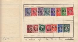Mercure  & Maréchal Pétain 1944 Série N° 1 à 15 Dans Ancien Carnet De Circulation - Liberazione