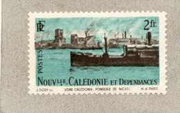 Nelle CALEDONIE :  Fonderie De Nickel Et Bateau - Industrie  - Série Courante - - New Caledonia