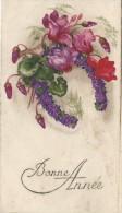 Petite Carte De Voeux/  Circulée/Fer à Cheval Et Cyclamen/ Mantes / 1933 CVE61 - Nieuwjaar