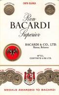 """0493 """"RON BACARDI SUPERIOR - BACARDI & CO. LTD""""  MEDAGLIE AWARDED TO BACARDI.  ETICHETTA ORIGINALE. - Rhum"""