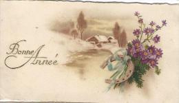 Petite Carte De Voeux/  Circulée/ Chalet , Fer à Cheval Et Fleurs/ Vers 1930 CVE62 - Nieuwjaar
