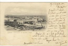 Carte Postale Ancienne Djibouti - Terrasses Du Quartier Arabe - Djibouti