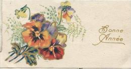Petite Carte De Voeux/  Circulée/Bouquet De  Pensées/ Vers 1940 CVE63 - Nouvel An