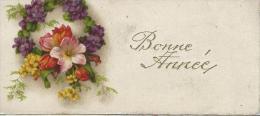 Petite Carte De Voeux/  Circulée/Couronne De Fleurs/ Vers 1930    CVE65 - Nouvel An