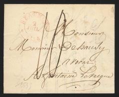 """Pr�philat�lie - lettre cachet � date BEAUMONT/1833 + """"10"""" pour Fontaine l'Ev�que"""
