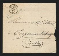 """Préphilatélie - Lettre Cachet à Date BRUXELLES/1865 + """"Cabinet Du Roi"""" Pour Engreux Mabompré - 1830-1849 (Belgique Indépendante)"""