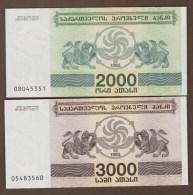GEORGIA LOT 2000 + 3000 Kuponi 1993  UNC - Géorgie