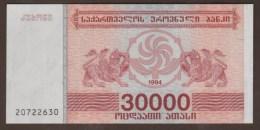 GEORGIA  30.000 Kuponi 1994 UNC  KM#47 - Géorgie