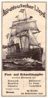 Original Werbung - 1891 - Norddeutscher Lloyd In Bremen , Post- Und Schnelldampfer !!! - Schiffe