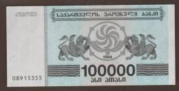 GEORGIA  100.000 Kuponi 1994  UNC  KM#48Ab - Géorgie