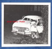 Photo Professionnelle - LISSE En CHAMPAGNE - Accident D'une Automobile - Années 1970 - Prés VITRY Le FRANCOIS - Marne - Cars